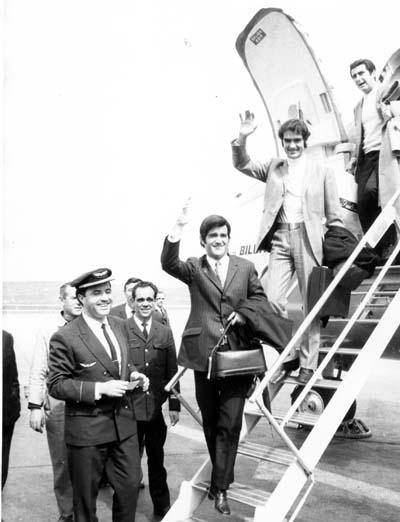 Manuel de la Calva y Ramón Arcusa en 1968