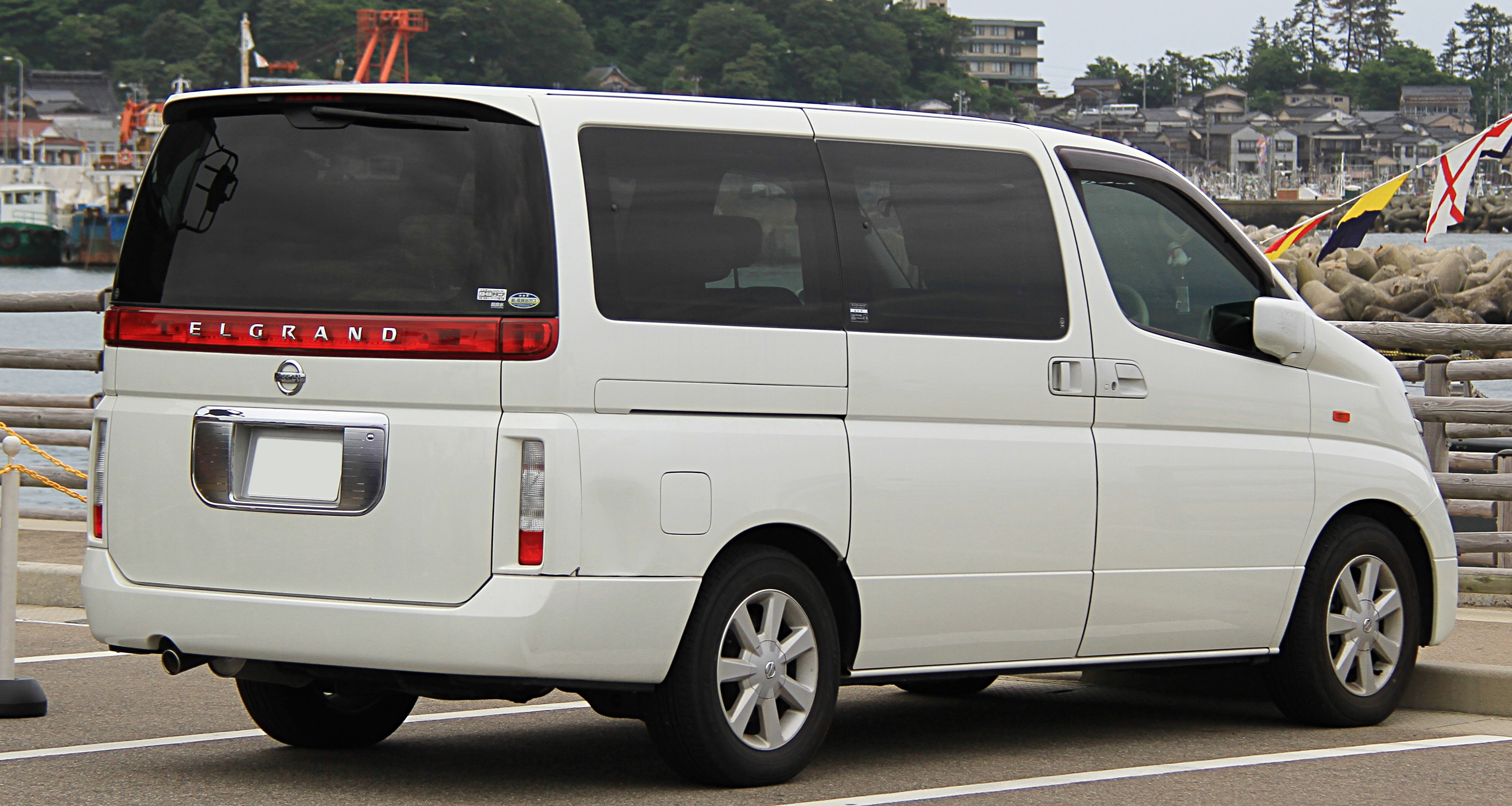 File 2002 2004 Nissan Elgrand Rear Jpg Wikimedia Commons
