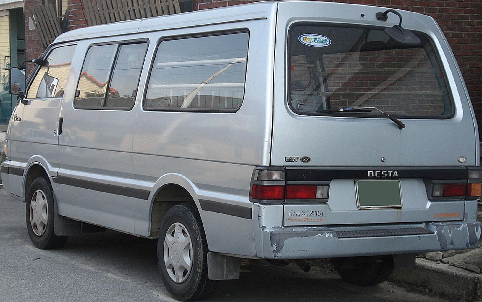 Fiche technique Kia Besta de 1993 à 1999
