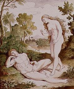 Eva e seu esposo Adão.