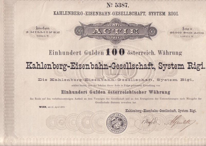 Aktie zum Nennbetrag von 100Gulden