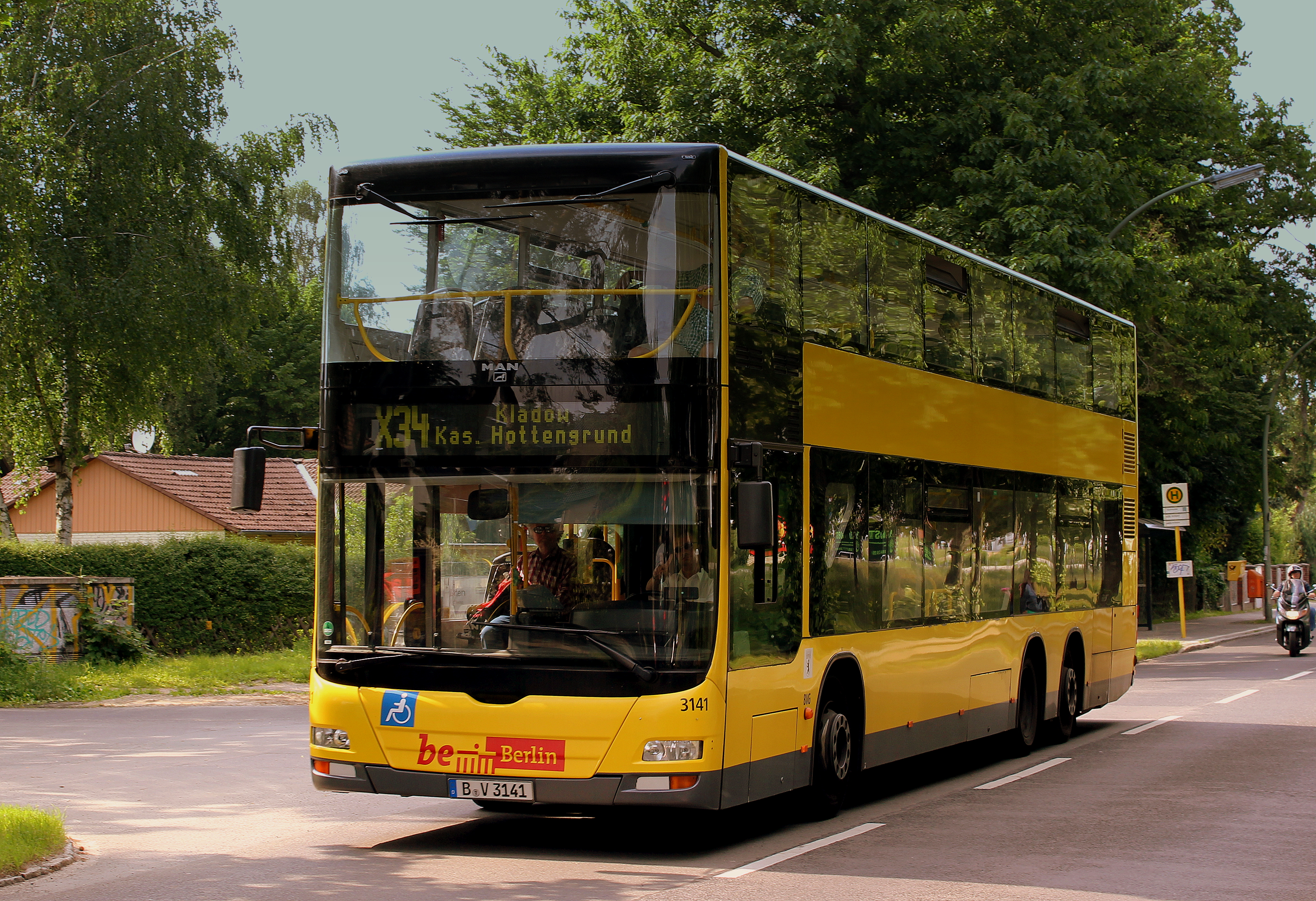 Dateiberlin Bus Man Double Decker Route X34 Near Kurpromanade