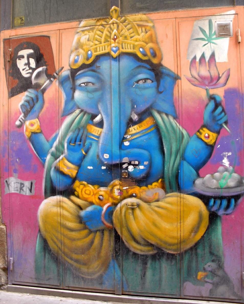 Ganesha als Grafitti in Paris - Quelle: WikiCommons