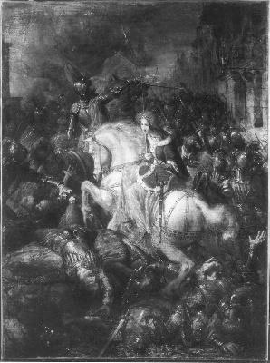 Barend Wijnveld - Anno 1417. Willem van Arkel sneuvelt - SA 5006 - Amsterdam Museum.jpg