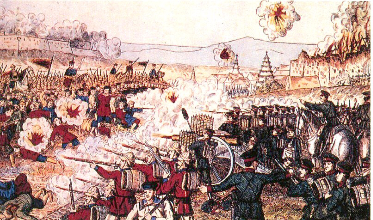 the taiping revolution The taiping rebellion was a large-scale revolt, waged from 1851 until 1864, against the authority and forces of the qing empire in china, conducted by an army and civil administration inspired by hakka, self-proclaimed mystics named hong xiuquan and yang xiuqing.