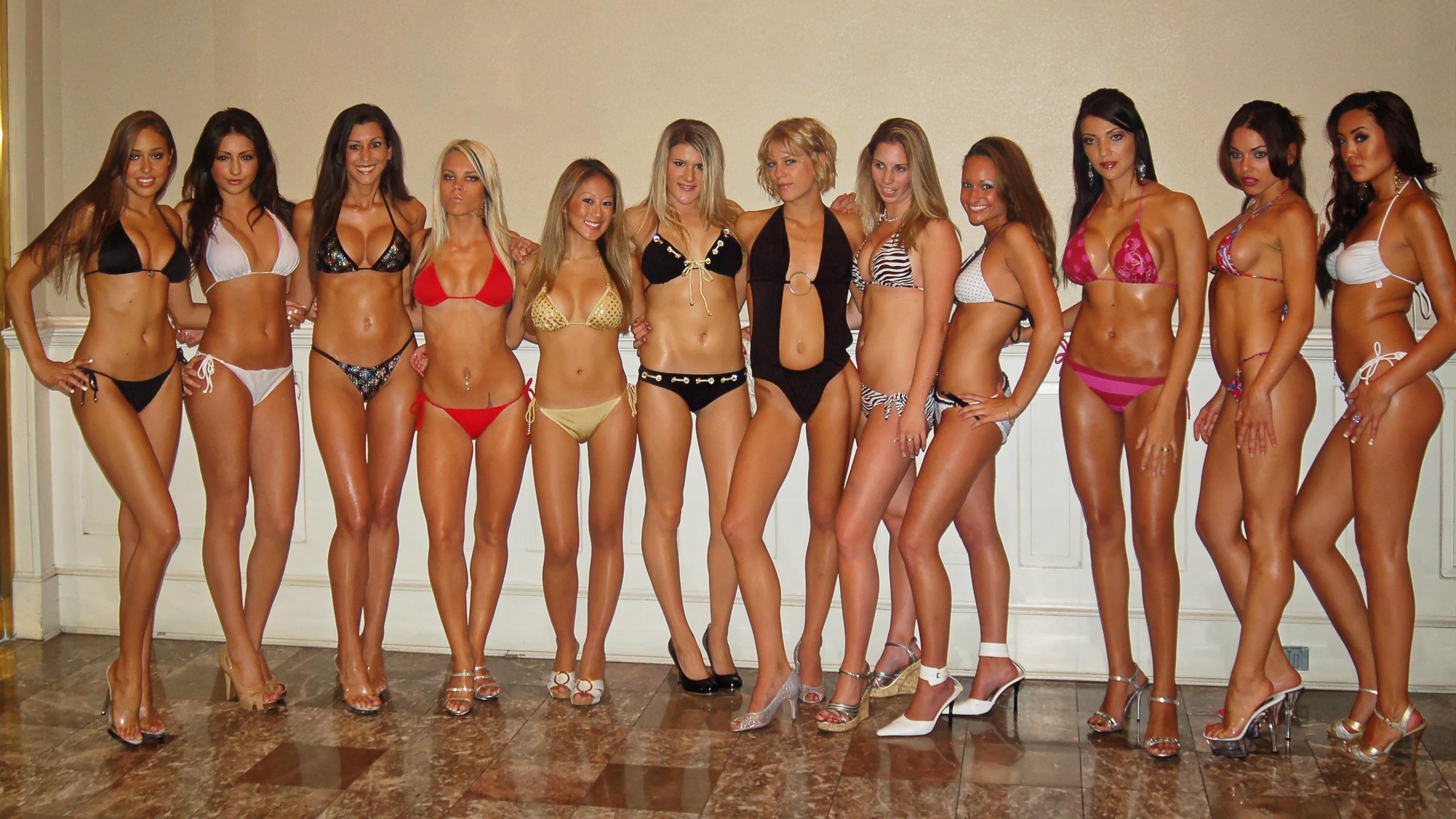 Black bikini contest