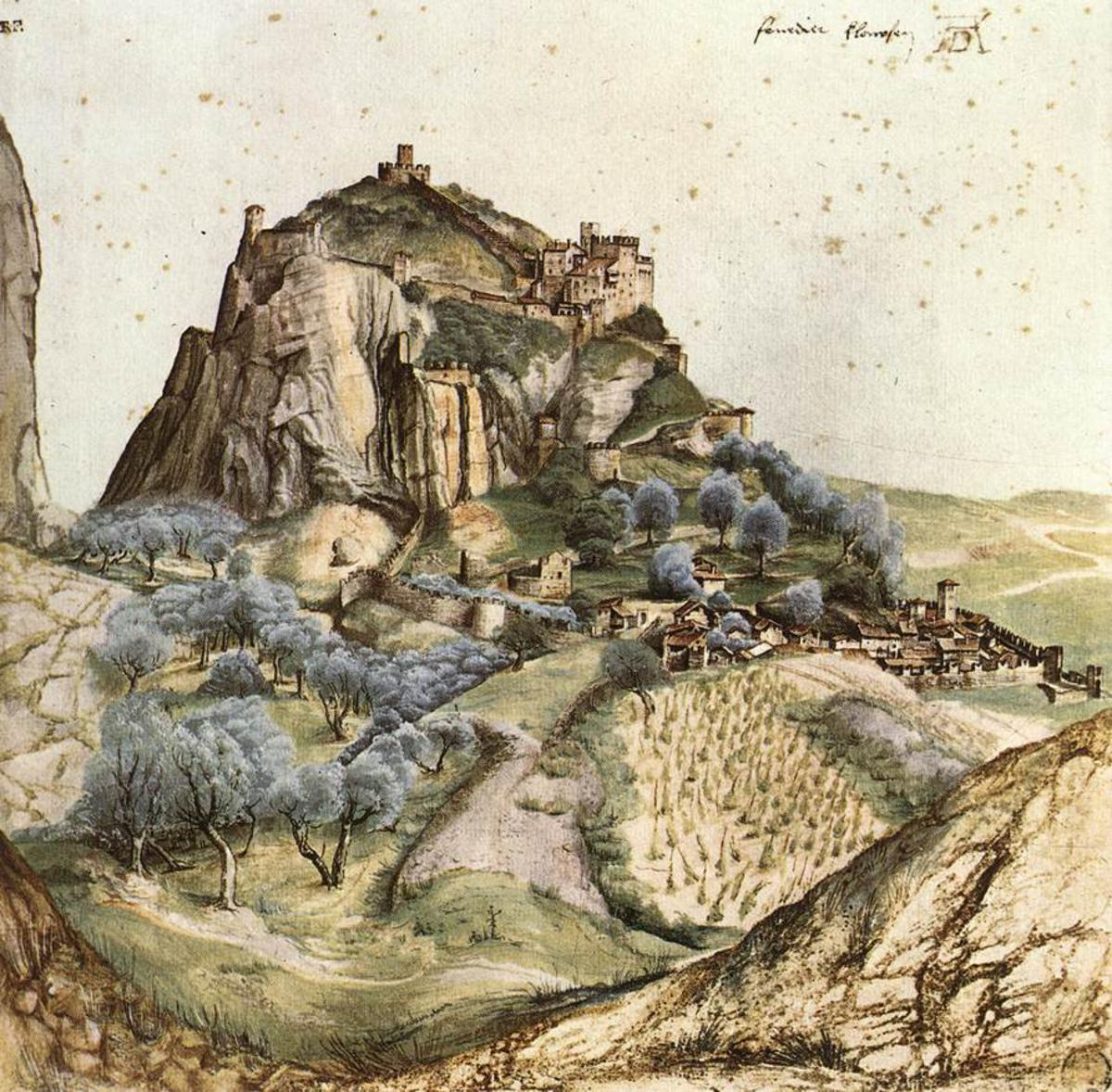 Arco Mountain painting made by Albrecht Durer