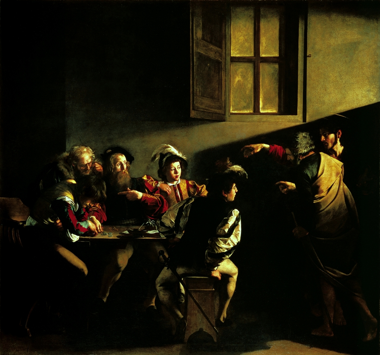 an analysis of the calling of st mathew In the calling of st matthew highlight and shadow create a dynamic portrayal of   without this light, so natural yet so charged with symbolic meaning, the picture .