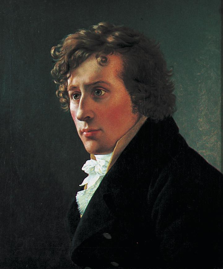 Christoffer Wilhelm Eckersberg - Portrett av Professor J.C. Dahl - Trondheim kunstmuseum - TKM-86-1898.jpg