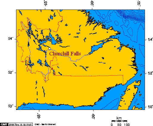 Churchill River Canada Map Churchill River (Atlantic)   Wikipedia