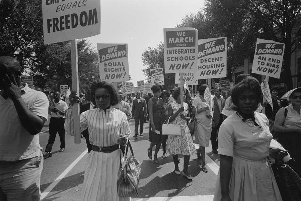 """an analysis of african american struggle for civil rights in martin luther kings novel On august 28, 1963, delivering the culminating address at the greatest mass-protest demonstration in us history, martin luther king, jr, summoned all of his listeners to think anew about the heritage and promise of america speaking in the """"symbolic shadow"""" of the most revered american of all, he ascended the steps of the lincoln."""