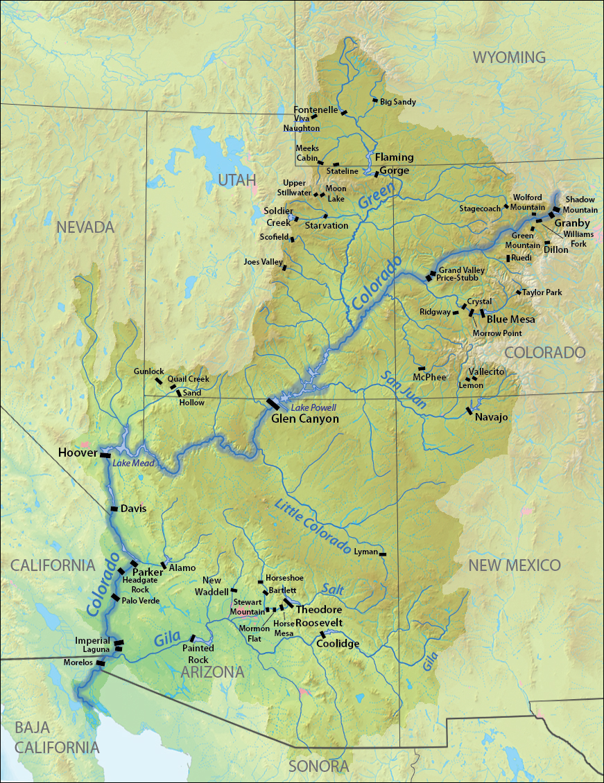 List of dams in the Colorado River system  Wikiwand