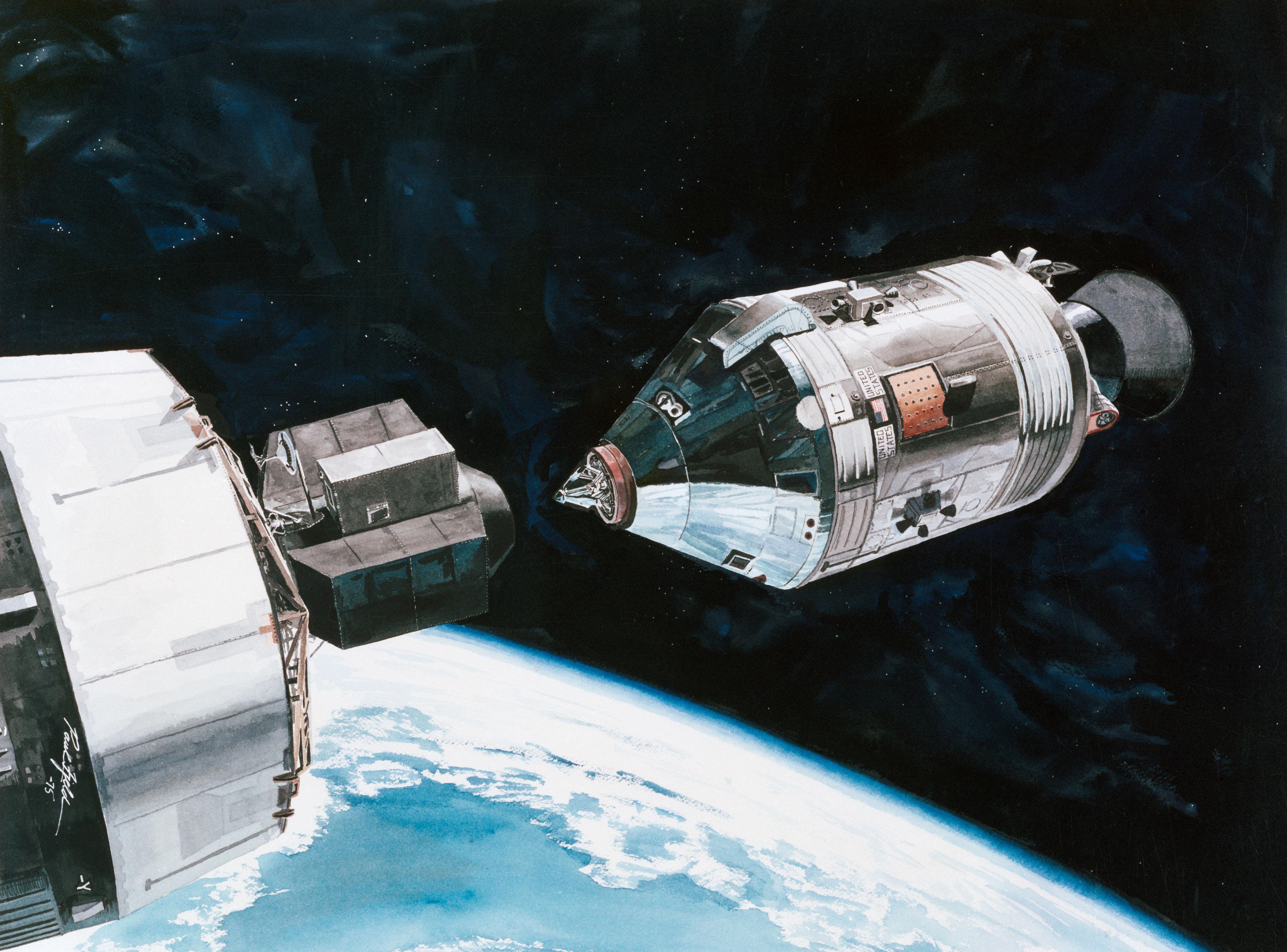 stages of apollo spacecraft docking - photo #37