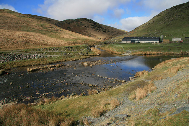 Confluence of the Claerwen and the Arban - geograph.org.uk - 1285661