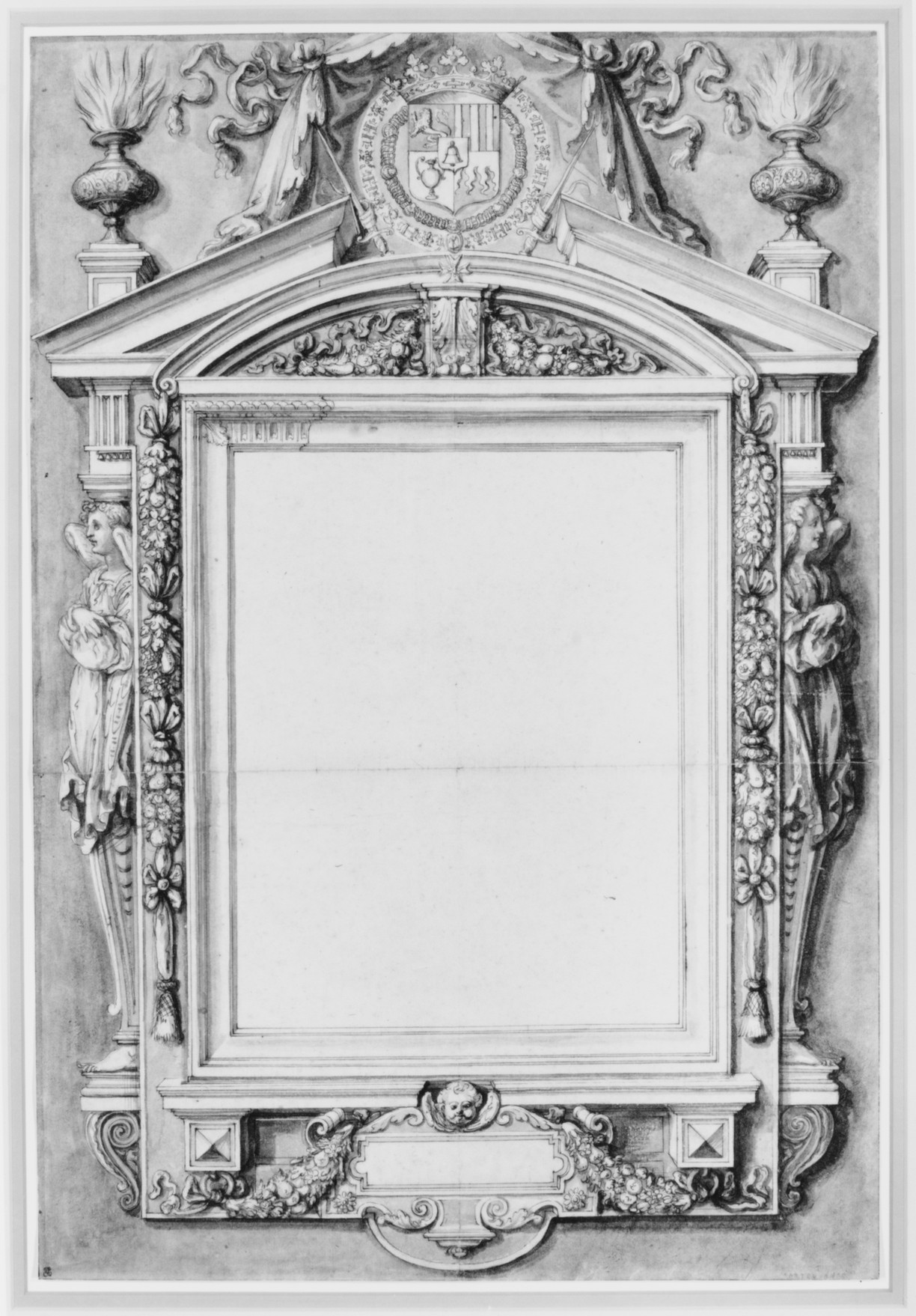 File:Design for the Frame of a Funerary Plaque with the Coat of Arms ...