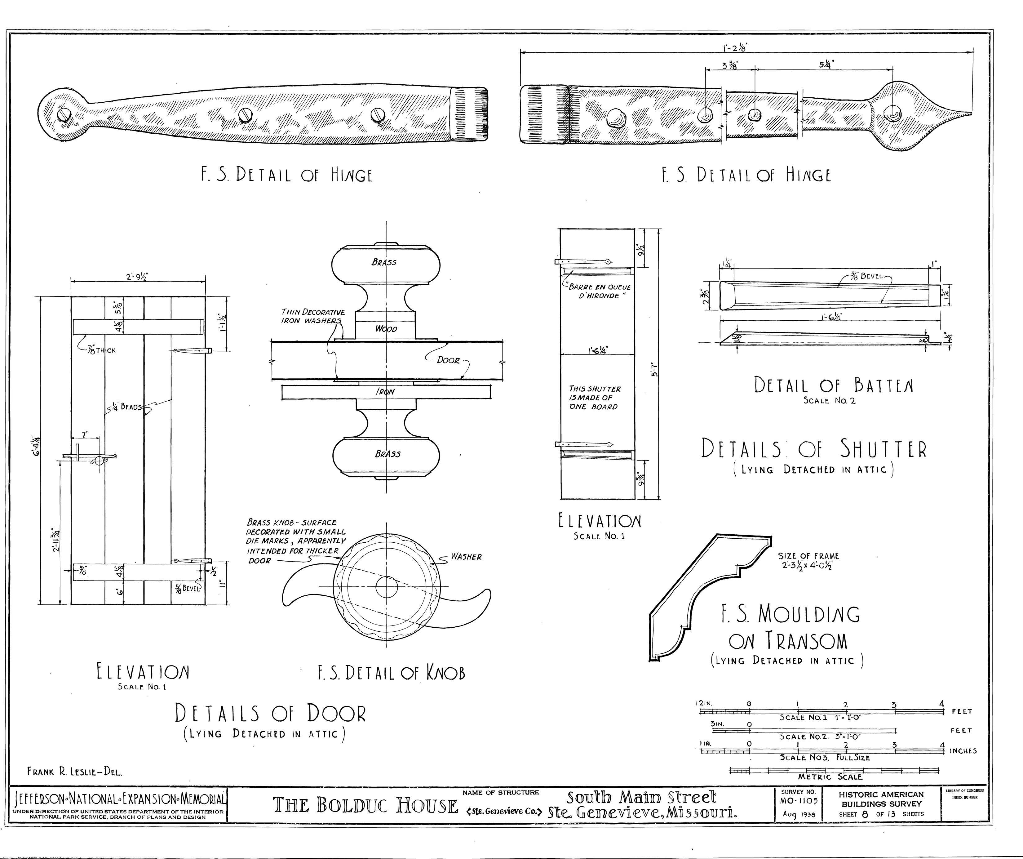 File Drawing Of Door And Shutter Details In The Bolduc