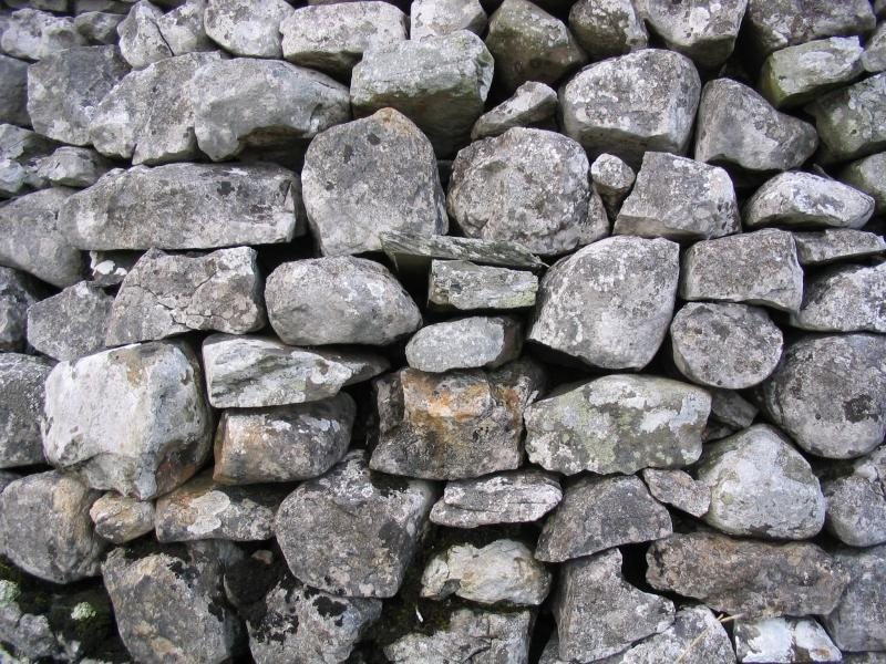 Dry stone wall in the yorkshire dales detail