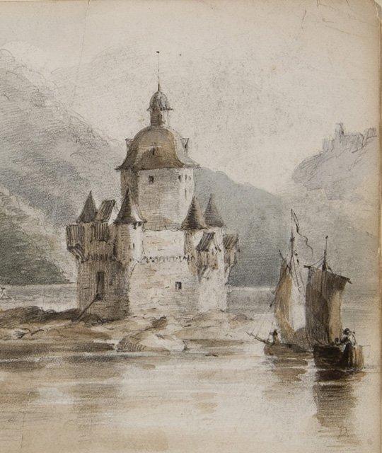 File F O C Darley 1882 1888 Pfalz Castle On The Rhine