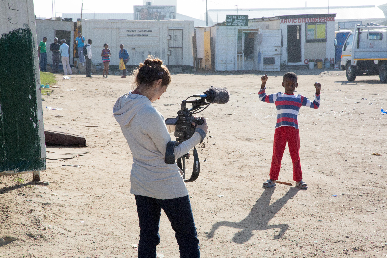 File:Filming Documentary about Sinenjongo High School in Joe Slovo Park, Cape Town,