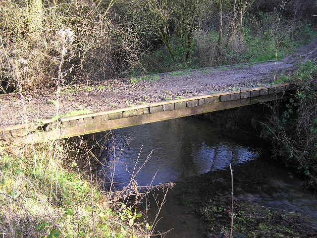 Footbridge over Chad Brook - geograph.org.uk - 296260