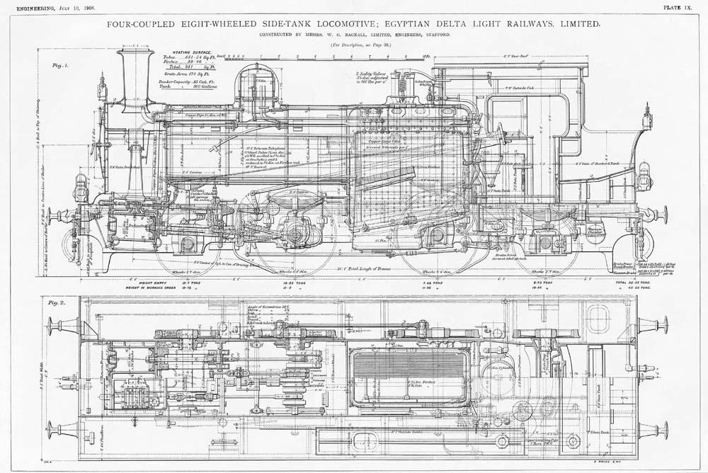 Wg Ltd file four coupled eight wheeled side tank locomotive for