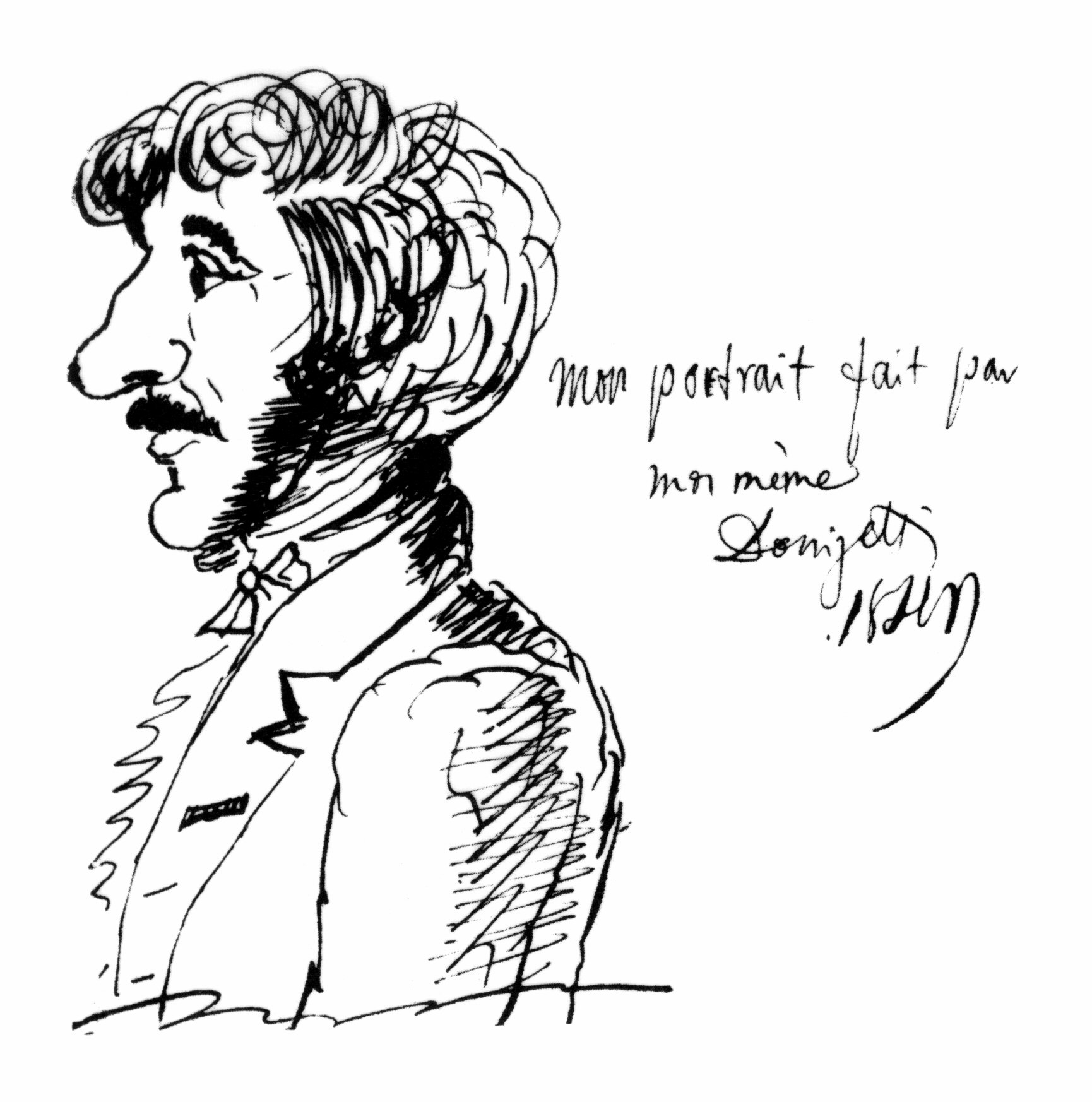 Gaetano Donizetti - self portrait