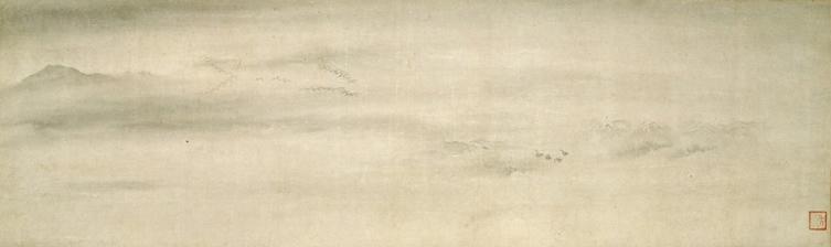 File:Geese Alighting on a Sandbank attributed to Muqi (Idemitsu Museum of Arts).jpg