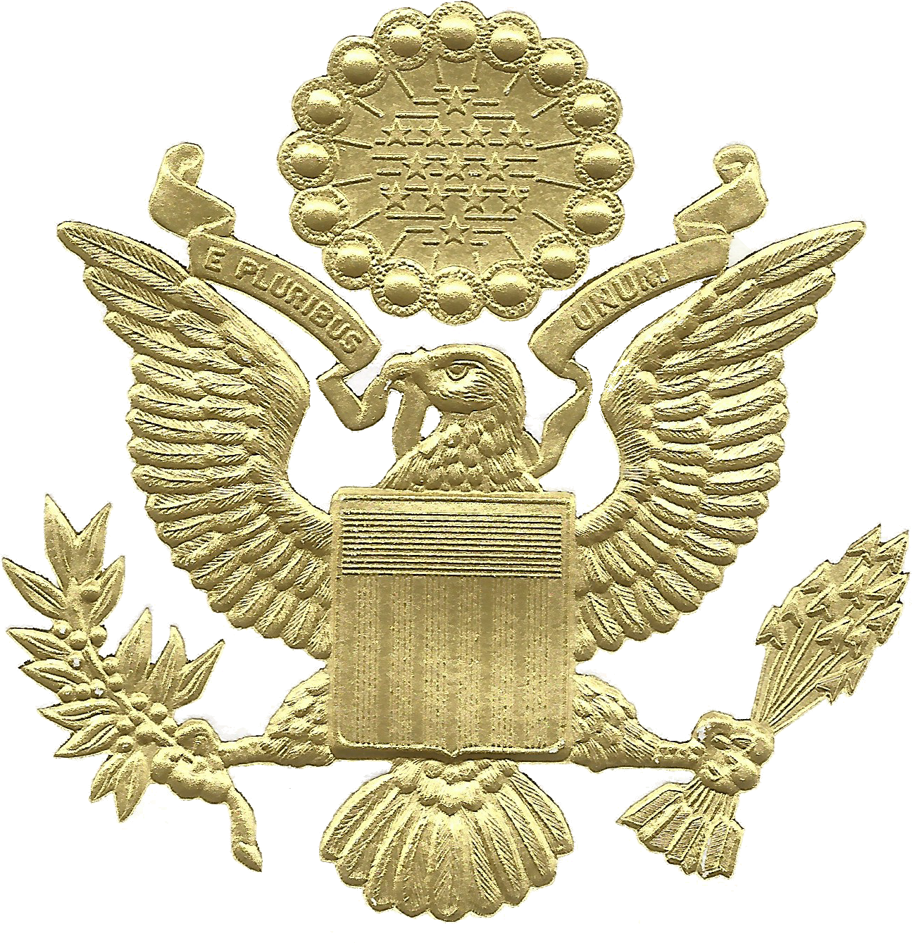 File Great Seal Of The United States Embossed Gold Png