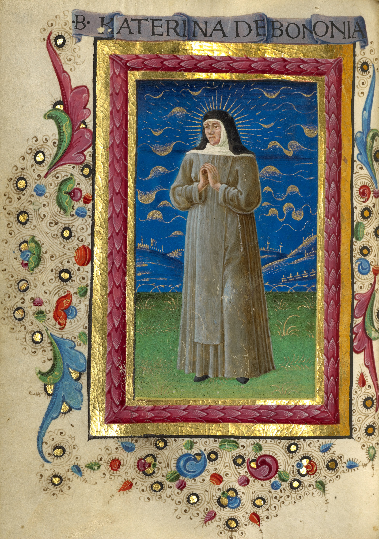 https://upload.wikimedia.org/wikipedia/commons/1/10/Guglielmo_Giraldi_%28Italian%2C_active_1445_-_1489%29_-_Saint_Catherine_of_Bologna_-_Google_Art_Project.jpg