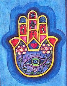 Hamsa mano usada en la religion musulmana y judia