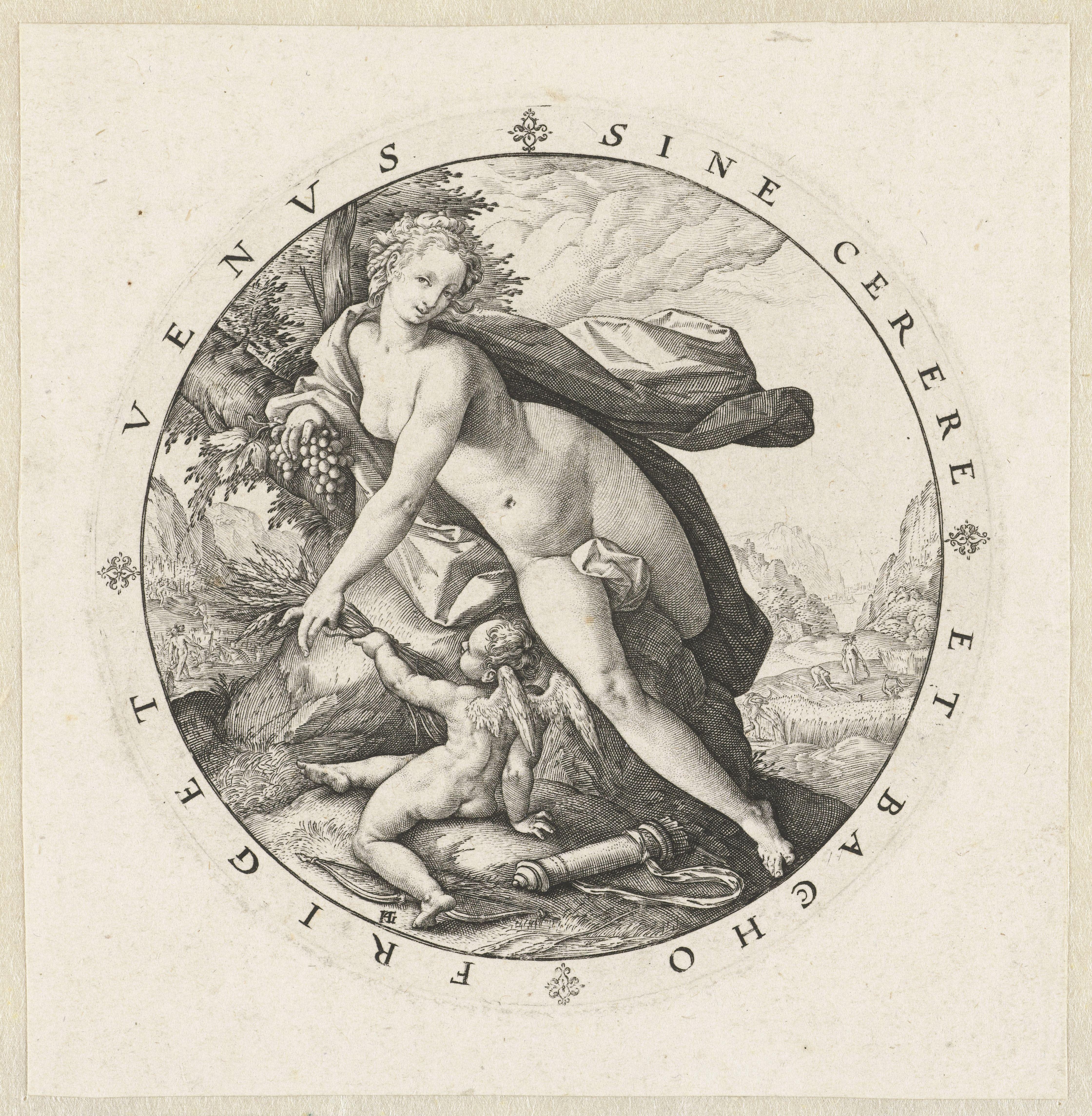 English Venus en Cupido