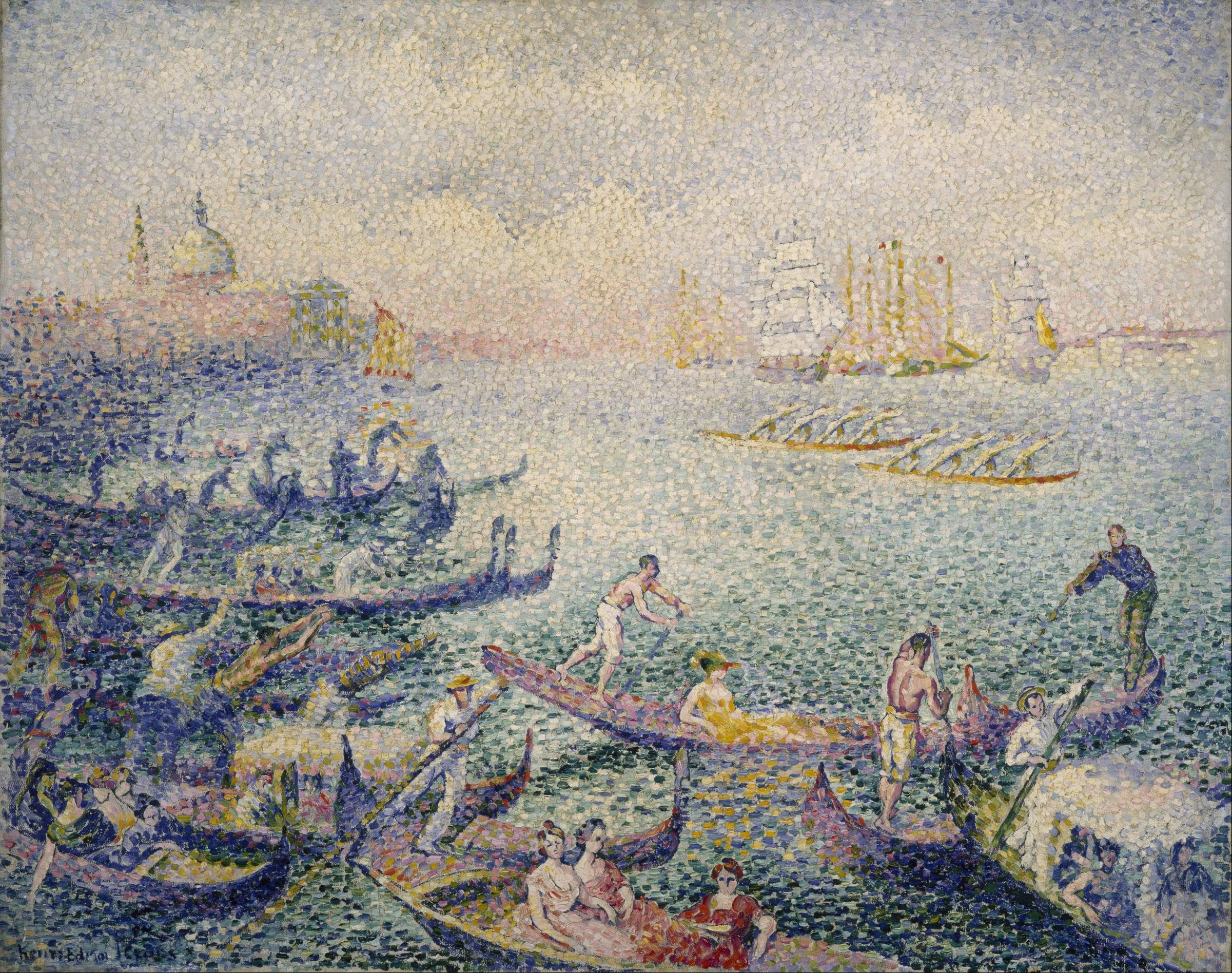 Henri-Edmond Cross - Regatta in Venice (1904)