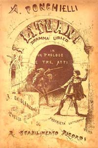 Opera I Lituani (The Lithuanians) - poster from the opera's 19th century production
