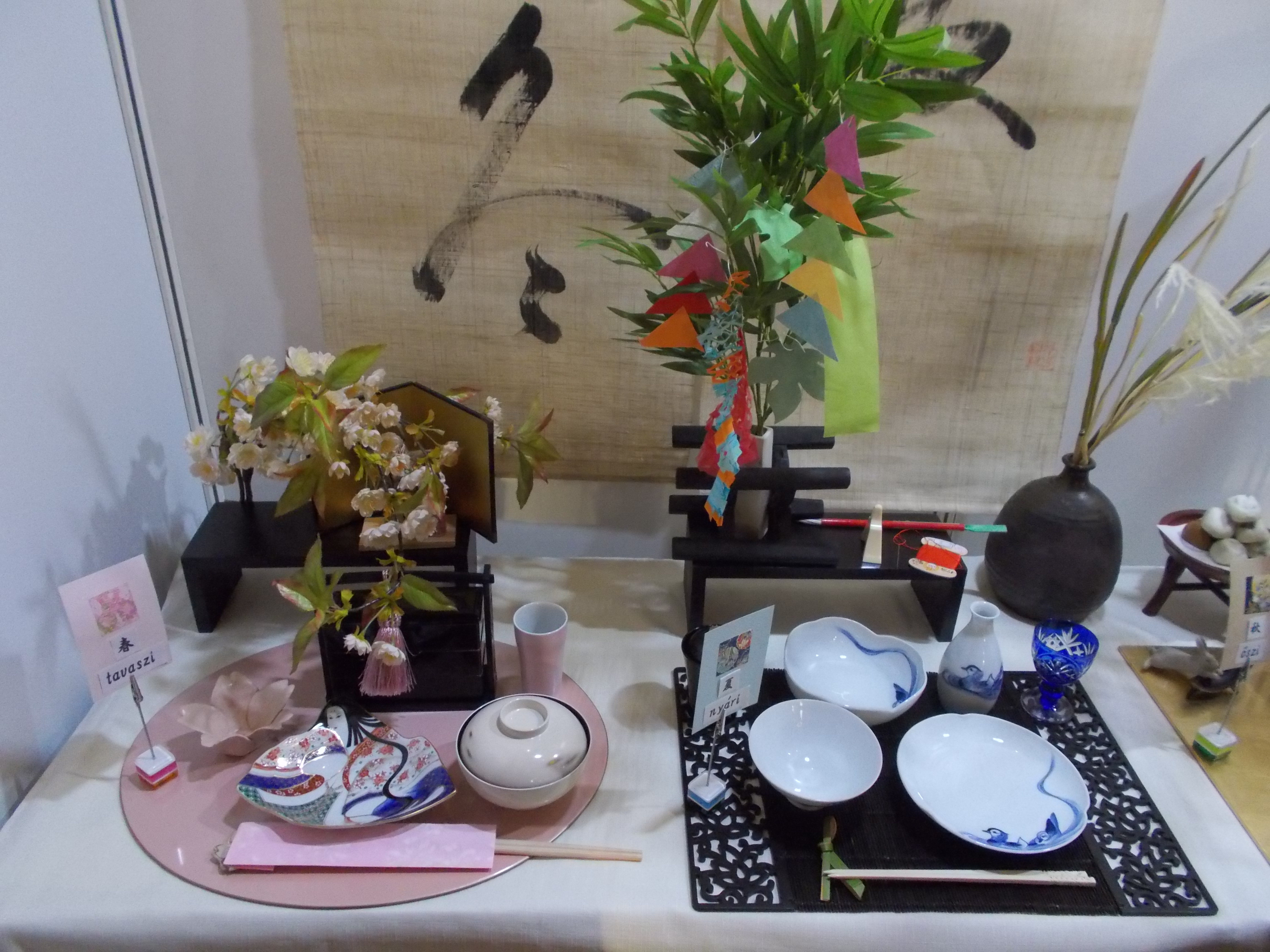 File:Japanese Festival in Vigadó. Japanese table setting to spring ...