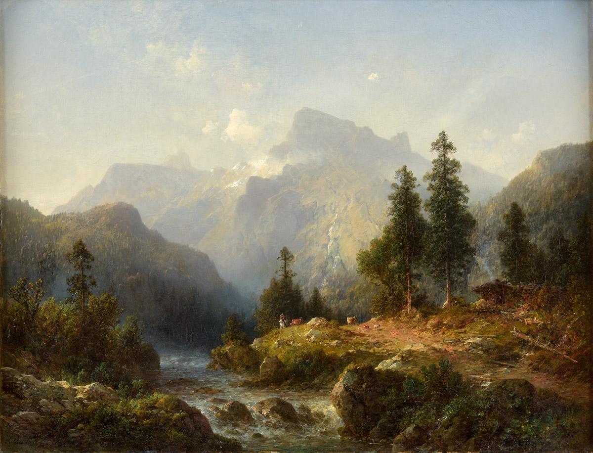 Julius Lange Fluss in den Bergen.jpg