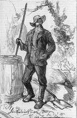 """The Moonshine Man of Kentucky"", an 1877 illustration from Harper's Weekly"