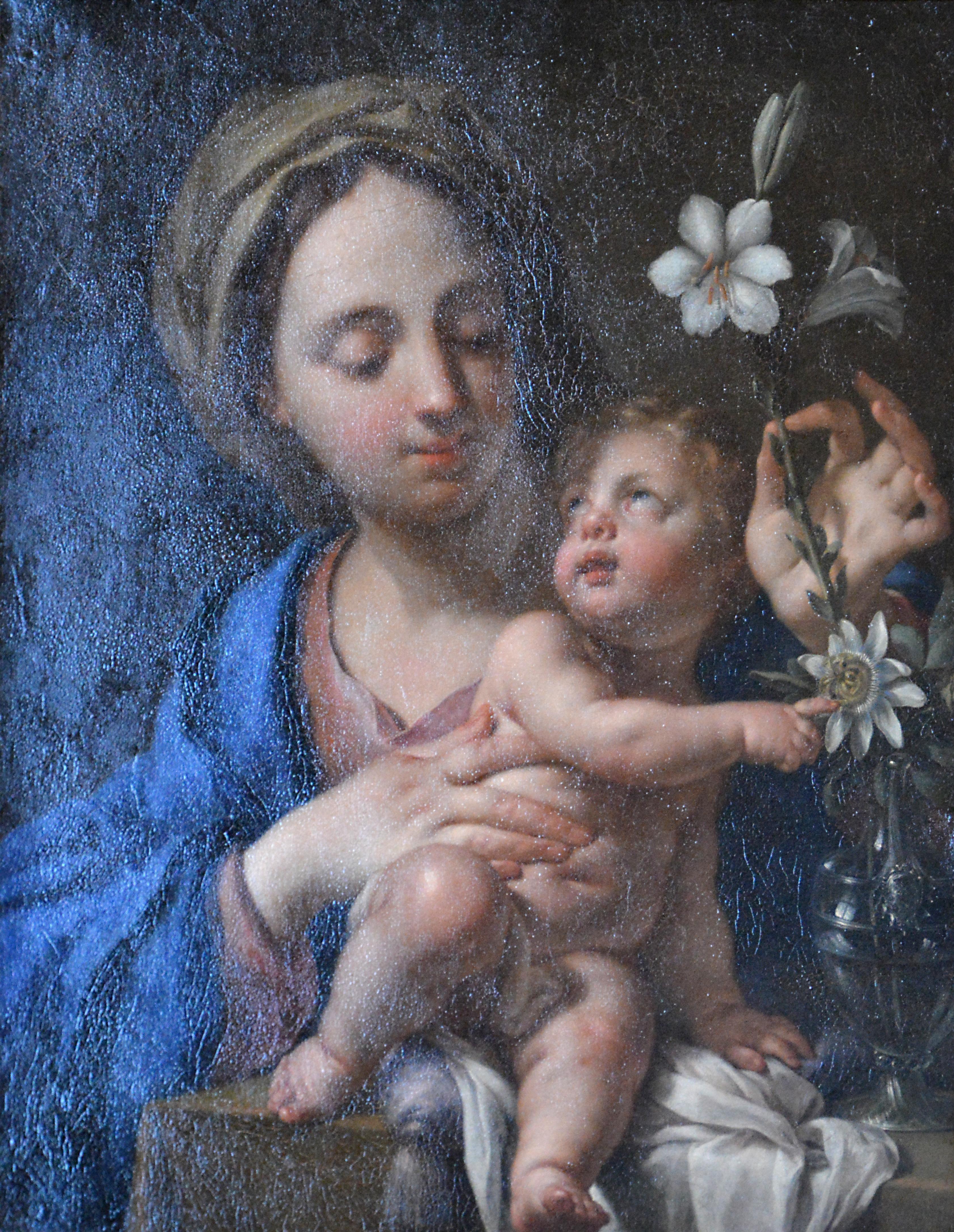 File L Enfant Jesus Designant A La Vierge Les Fleurs De La Passion