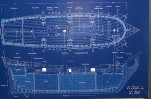 This blueprint of what La Belle would have loo...