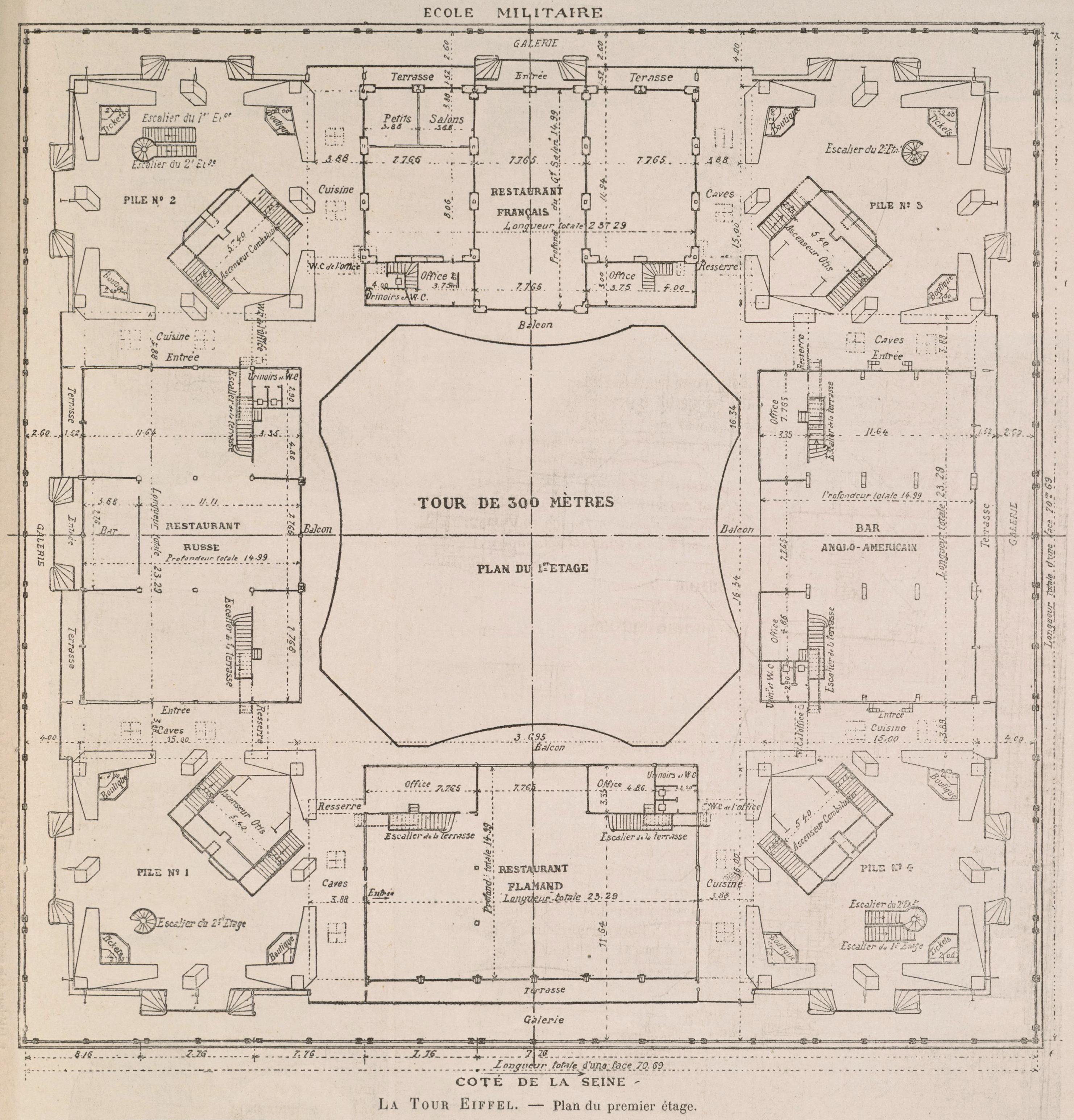 File la tour eiffel plan du premier wikimedia for Blueprint design