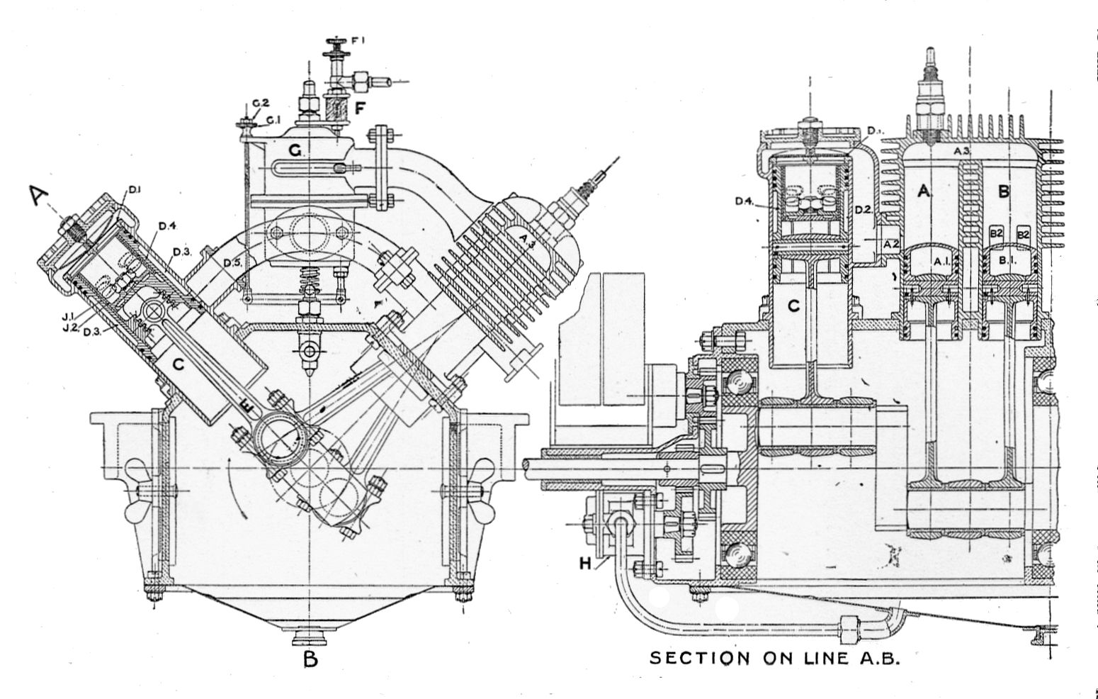 File:Lamplough%27s_two Stroke_engine,_section_(Rankin_Kennedy,_Modern_Engines,_Vol_V) on 4 Stroke Engine Cycle