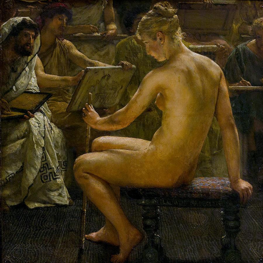 Lawrence Alma-Tadema - Un estudio romano