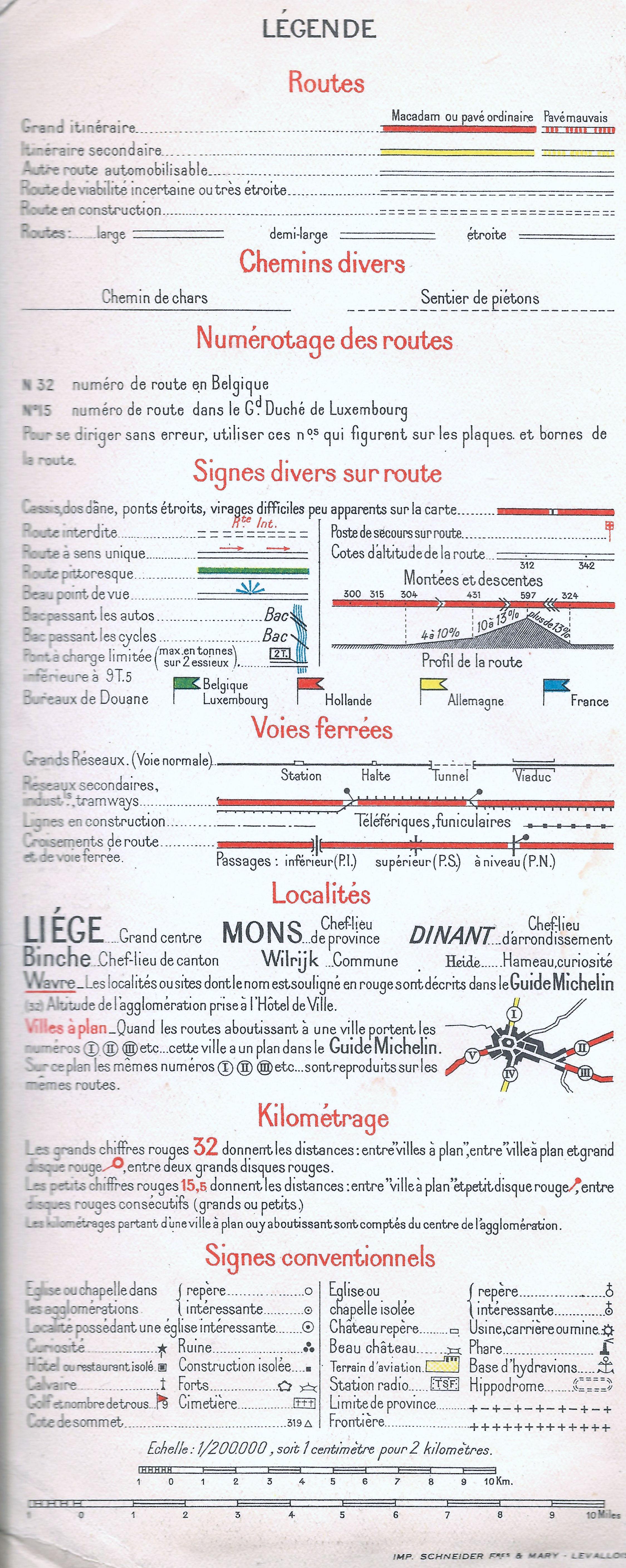 egendorkeyofaelgianroadmapichelin1940