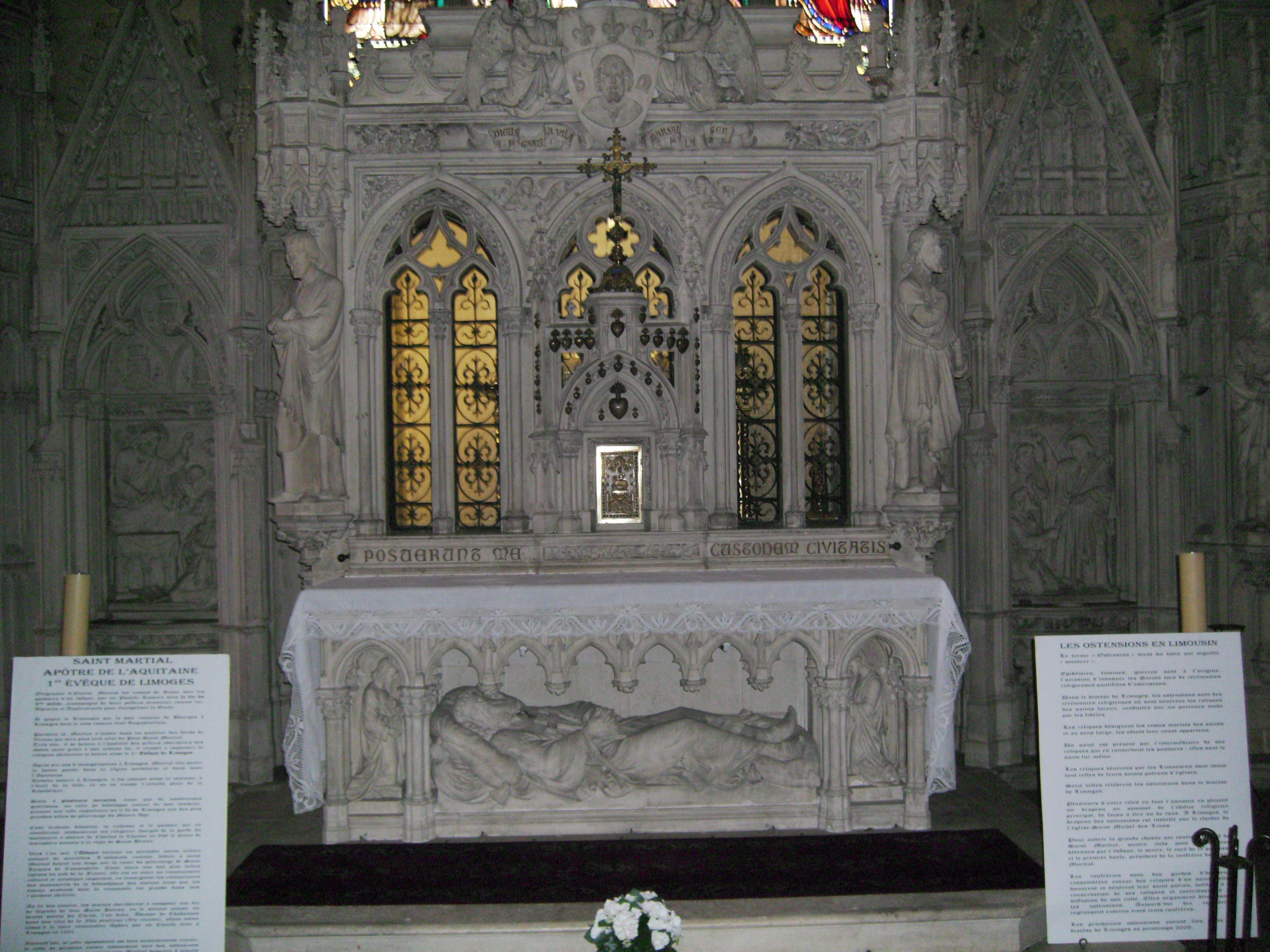 Martials skrin i kirken Saint-Michel-des-Lions i Limoges, hvor relikviene har vært oppbevart siden klosteret ble oppløst