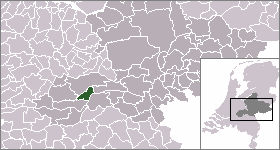 Wadenoijen Village in Gelderland, Netherlands