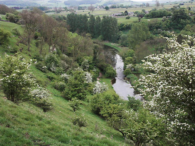 Looking down Lathkill Dale - geograph.org.uk - 437813