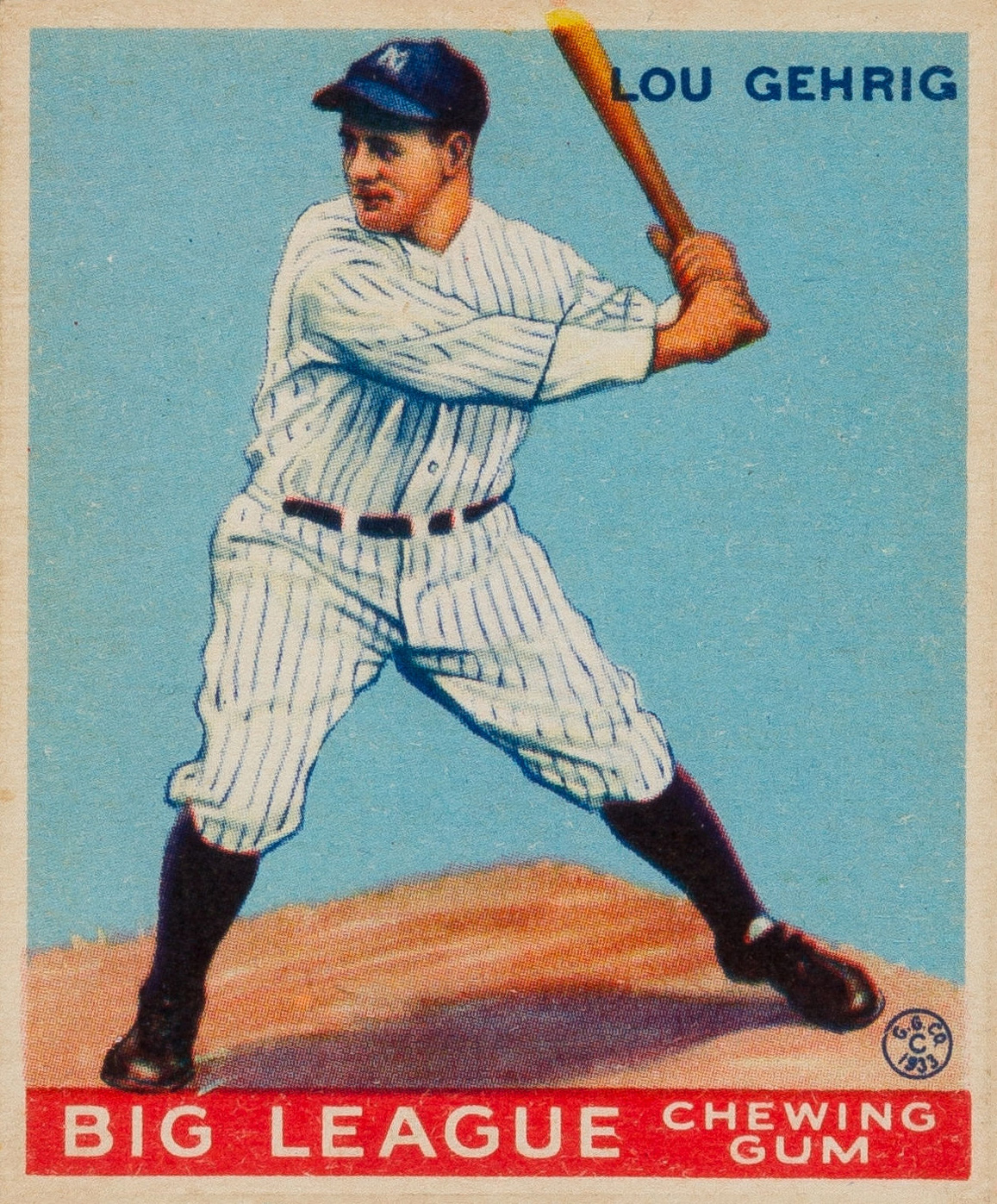 Lou Gehrig baseball card