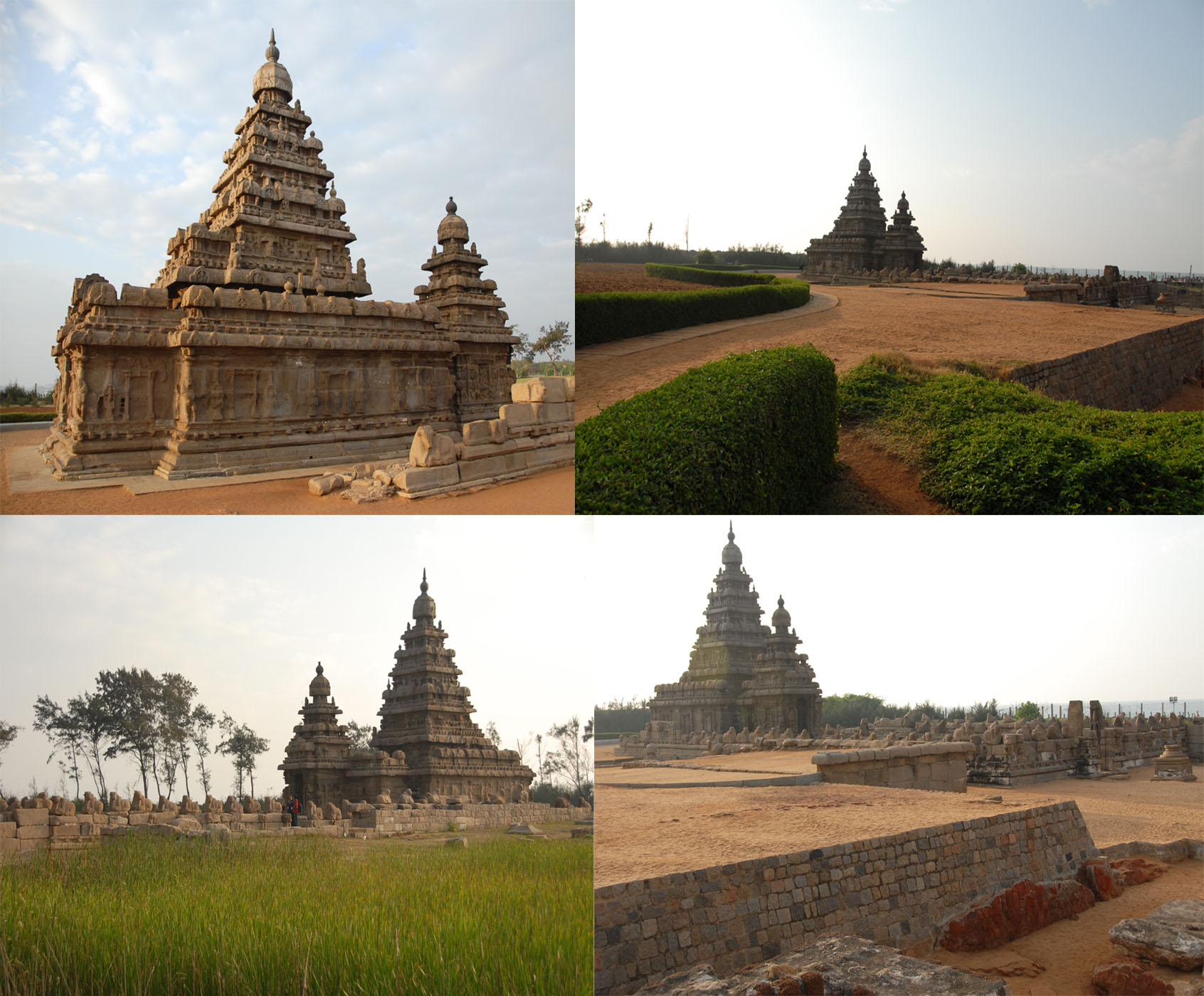 View of Shore Temple, Mahabalipuram / Mamallapuram