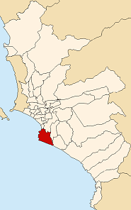Location of Chorrillos in Lima