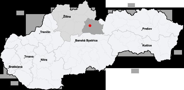 mikulas slovakia map