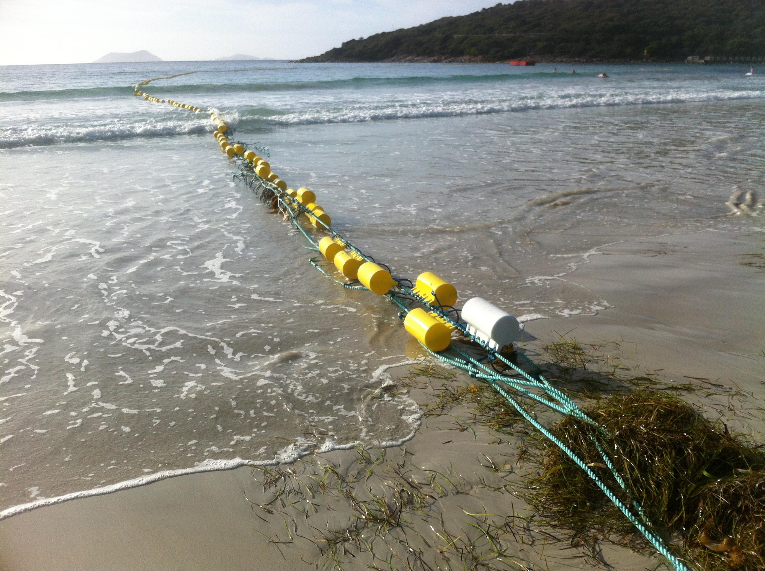 File Middleton Beach Shark Barrier Floats And Anchor Point Jpg
